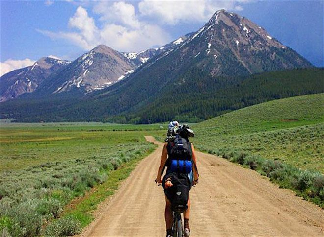 The Great Divide Mountain Bike Route: a 2,745-mile bike route from Banff, Canada to Antelope Wells, New Mexico.