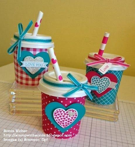 Stampin' Up! Valentine, Mini Coffee Cups, Valentine Treats, Valentine Gift Ideas