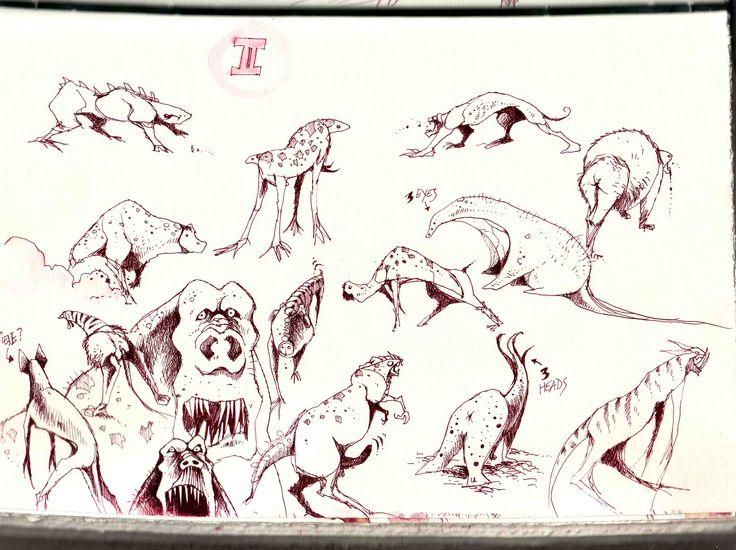 Fantasy monsters  sketches! #fantasy #stefanotamiazzo