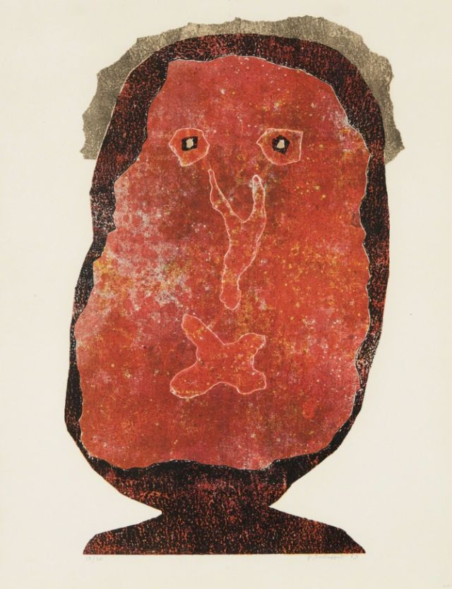 Jean Dubuffet (French, 1901-1985), L'enfle-chique II [The Inflated Snob II], 1961-1963. Lithograph in colors, on Arches paper, with full margins, 64.8 x 50.2 cm.