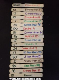 DIY Mental Math Game - LOVE this idea.  Change it up or down for younger or older kids.