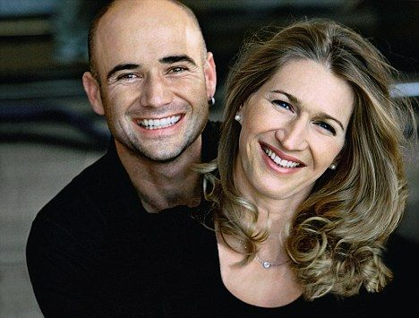 Andre Agassi and wife, former tennis champion, Steffi Graf