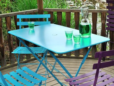 Bistro Foldable table - 4 people -   by Fermob - typically French style - has won fans in Times Square and Bryant Park in New York