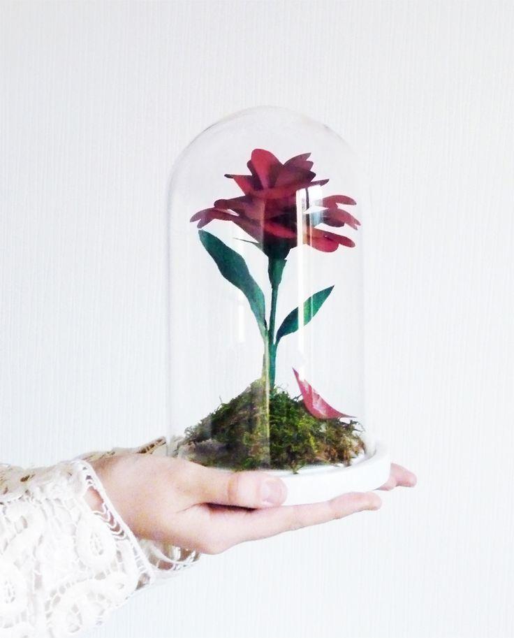 Diy : la rose enchantée de la Belle et la Bête - Black Confetti