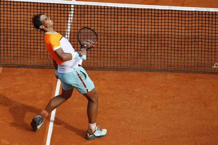17.04 Nadal a battu Ferrer au terme d'un combat homérique en quart de finale du Masters 1000 de Monte-Carlo.Photo: AFP/Valery Hache
