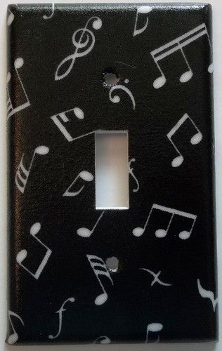 Music Band Notes Symbols Light Switch Cover Bedroom Wall Decor | eBay