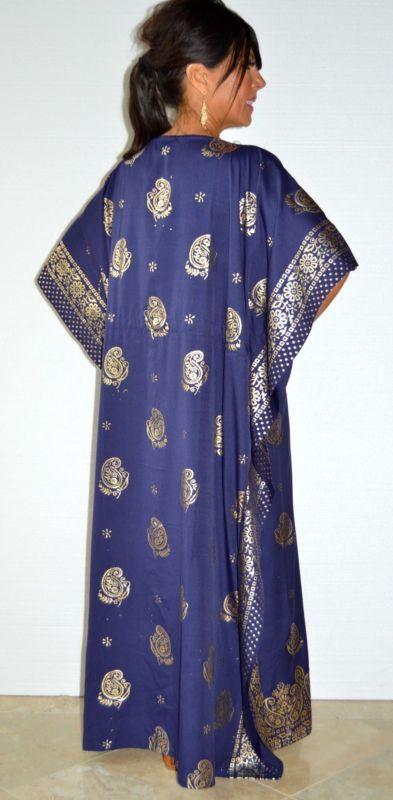 Тадж махал печатный богемное макси-кафтан платье прикрыть животное пейсли марокканский S-3X