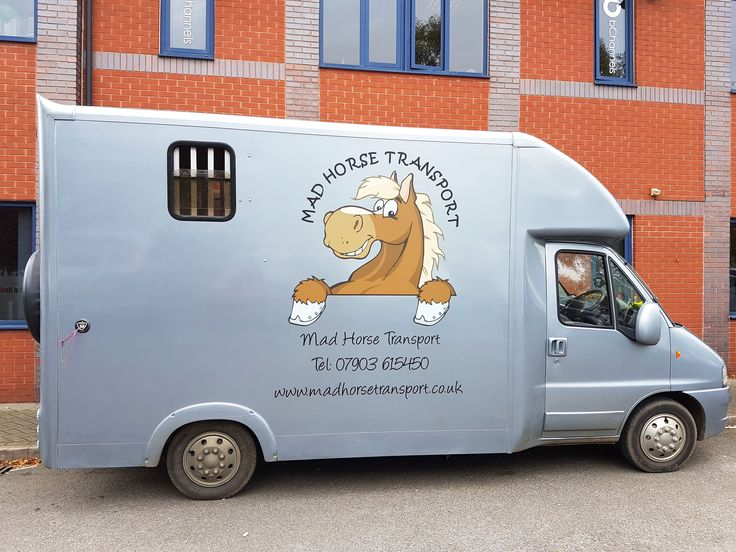 A brand new look for the Mad Horse Transport horse box. Transporting the horses in style!