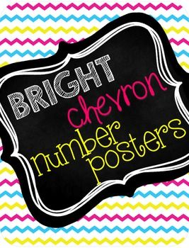 These chevron number posters will brighten up your classroom! The numeral, ten frame, and number word are displayed on each page for numbers 1-20. These are a great reference to have in any math classroom!