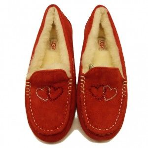 Red slipper #UGGAustralia #UGG #Slippers #designer #sale #bargain #discount #womensslippers #shoes #fashion #warm