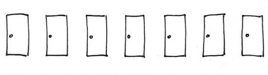 Загадка http://прогноз-валют.рф/%d0%b7%d0%b0%d0%b3%d0%b0%d0%b4%d0%ba%d0%b0/  Развлекалово для мозгов. Ну и так, отвлечься от графиков.  Задачка отМитрича:  Перед вами семь дверей. За одной из них сидит кошка. Каждый день вы можете открыть и закрыть одну дверь. Если кошка сидит за ней – вы победили. Если бы кошка все время сидела за какой-то одной дверью, вы бы гарантировано нашли ее за семь попыток. Точнее – даже за шесть попыток. Но каждую ночь кошка сдвигается на одну дверь – либо влево…