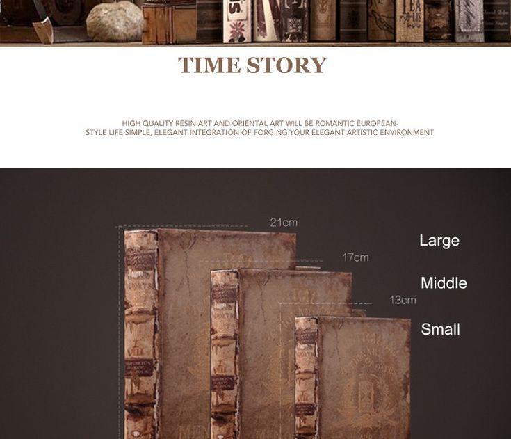 Винтаж Поддельные книги украшения книги модели Американских ретро Старая книга…