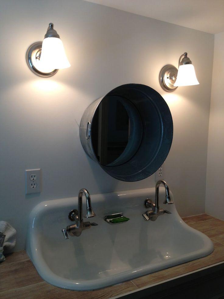 Best 25 trough sink ideas on pinterest sink inspiration - Bathroom trough sink double faucet ...