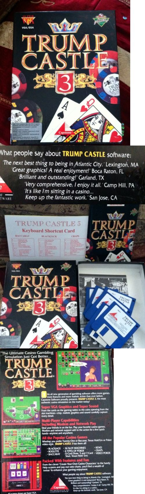 donald trump: Donald Trump President Collectible Trump Castle Atlantic City Vintage Pc Game -> BUY IT NOW ONLY: $7.95 on eBay!