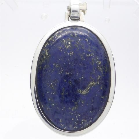 Lapis Lazuli Pendant | 925 Sterling Silver | Oval Cabochon | Style and Stone | Crystal Heart Melbourne Australia since 1986
