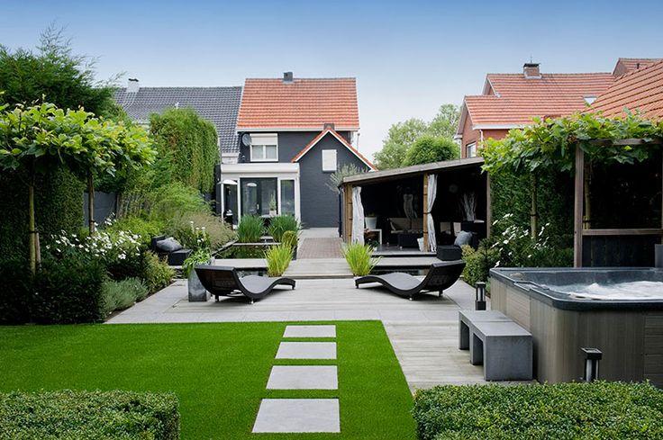 Lange smalle achtertuin