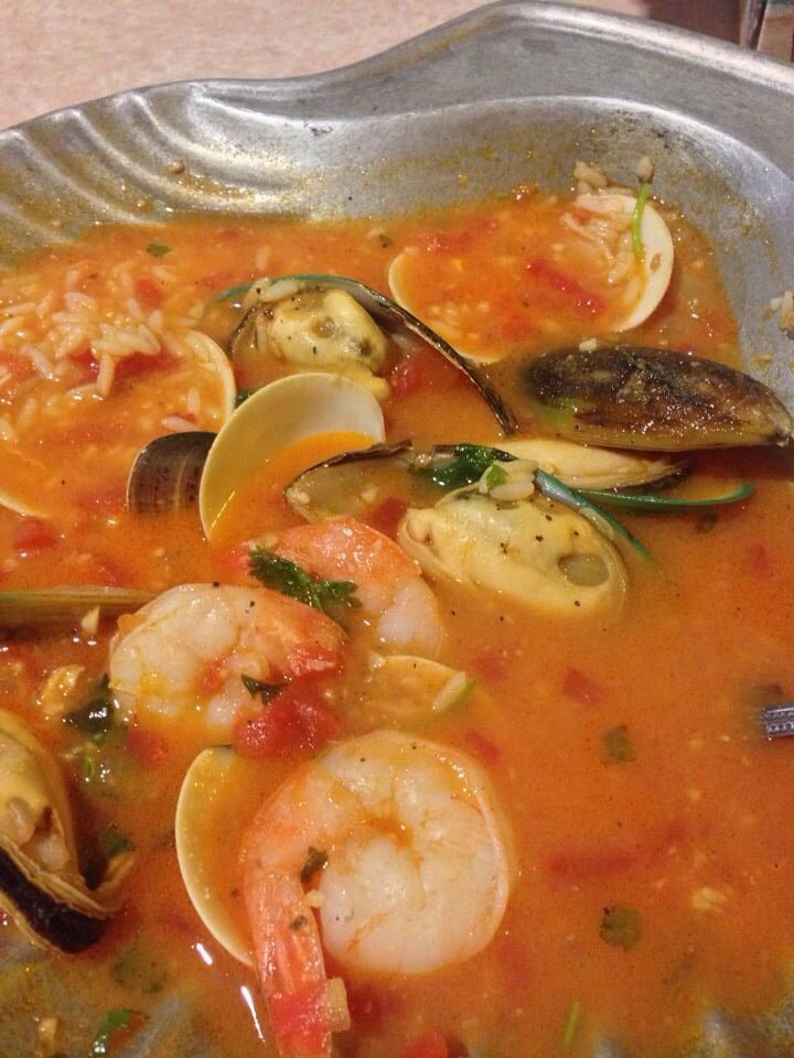 Seafood stew with rice