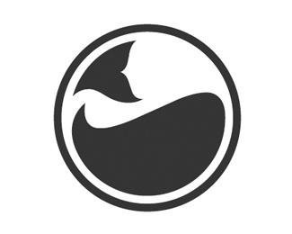 Whale Global Logo Mark, figure ground, Proximuty, law of closure