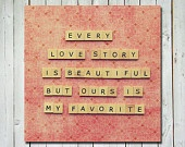 Love quote photograph- valentines day wedding anniversary - quote wall art - letter tiles quote print - 5X5 fine art photographRelationships Quotes, Stories, The Real, Scrabble Tile, Quotes Pictures, Wedding Quotes, Love Quotes, Pictures Quotes, Scrabble Letters