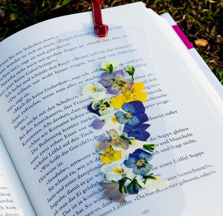 DIY-Anleitung – Kreative Lesezeichen basteln mit getrockneten Blüten