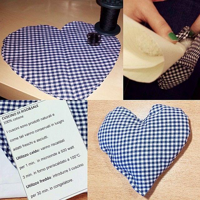 "Rice & Salt ""Heart"" pillow DIY www.facebook.com/levaje.crafts http://instagram.com/levaje"