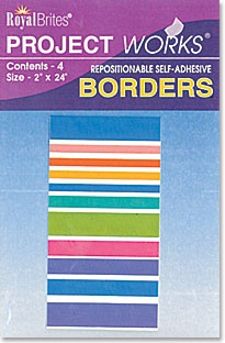 Royal Brites Bright Stripes Poster Borders, Self-adhesive, 4 borders/pack, $3.99, available at TheRoyalStore.com