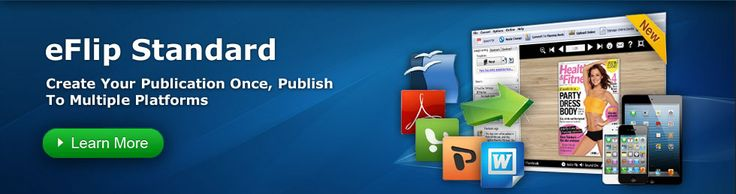 Flip Book Maker - Turn your PDF, images, MS word and Powerpoint files into a real virtual Flash flipping book, page flip books, brochures and interactive catalogs for both online and offline use.