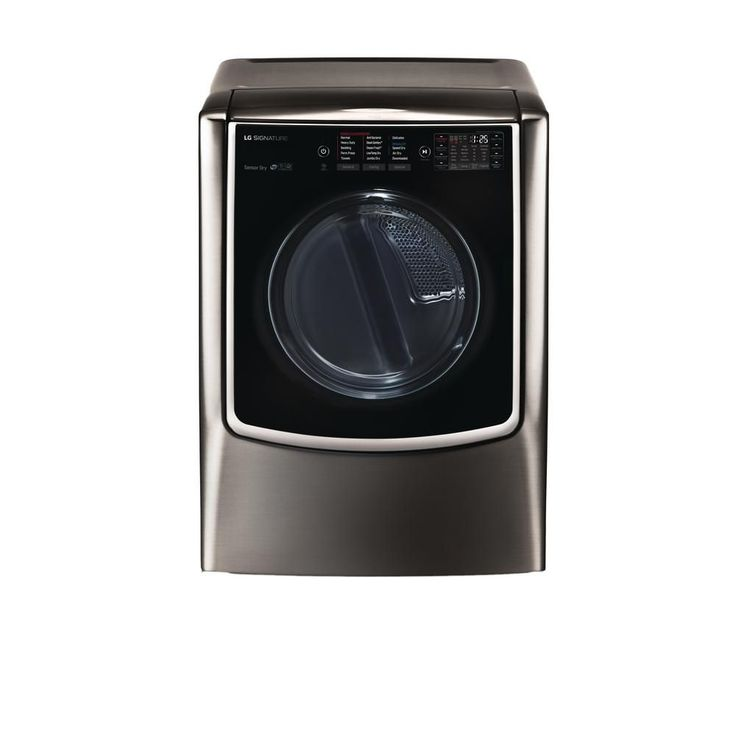 LG Electronics Signature 9.0 cu. ft. Gas Dryer with Turbo Steam in Black Stainless