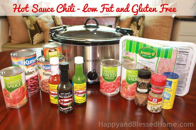 Ingredients Hot Sauce Chili - Low Fat and Gluten Free