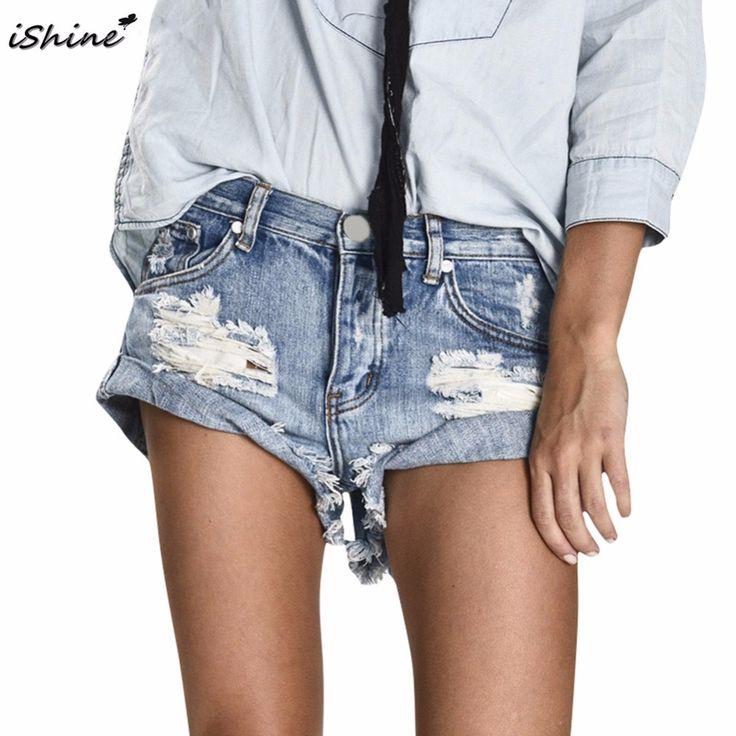Aliexpress.com: Kup IShine Plus size kobiet Sexy fringed zgrywanie szorty dla kobiet bliski talia hole kieszeni hot niebieskie spodnie jeansowe spodenki dla dziewczyny od zaufanego ripped shorts for women dostawcy na Leading The Trendy Store