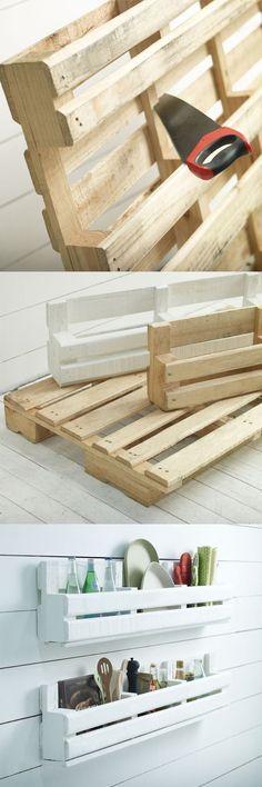 20 créations en bois de palettes pour ranger à la maison! Laissez-vous inspirer…