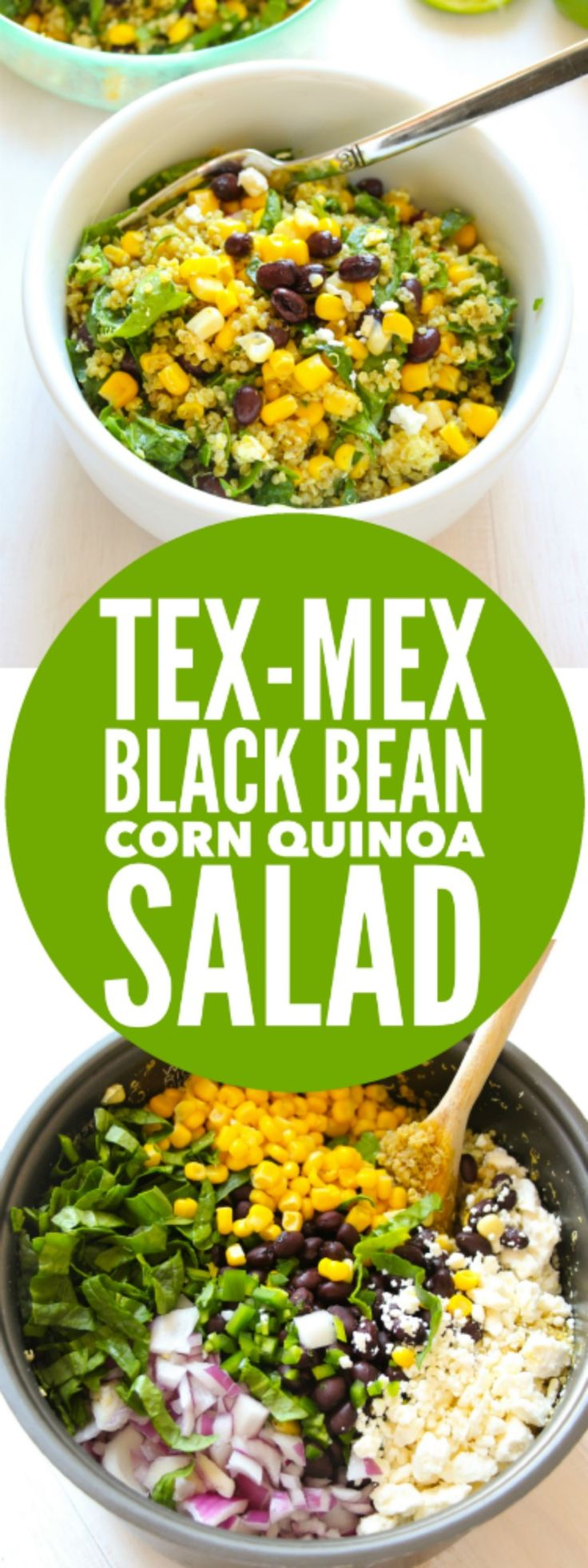SIMPLE, EASY, QUICK quinoa salad! Tex-Mex Black Bean Corn Quinoa Salad - Layers of Happiness