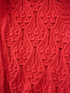 Kasha, from A Stitch in Time 2, my favorite pattern from the whole book...and look, this one's in red!