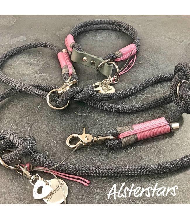 Alsterstars Set – Dark Grey meets Leather and Rose – Zugstopp   – Nähen