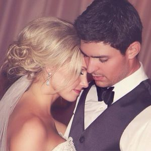 carey price and wife angela -- his eyelashes are delish in this pic