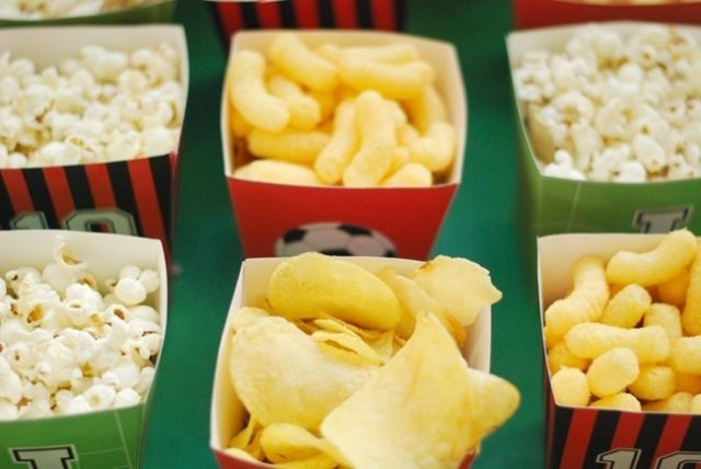 Soccer Party Snack boxes