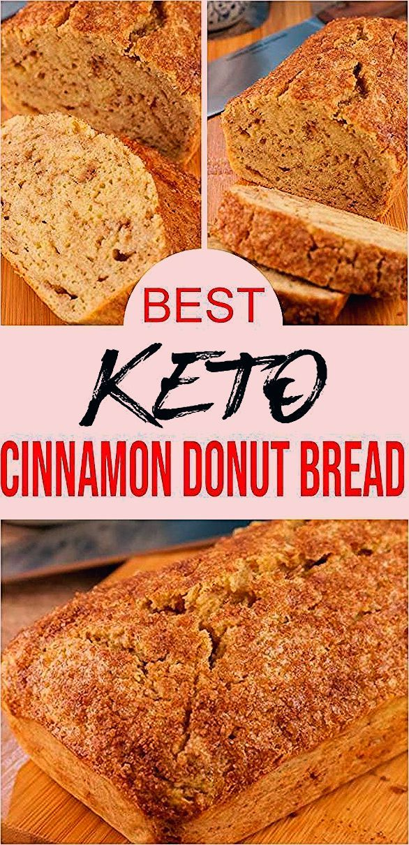 Keto Bread Recipe Easy Simple Cinnamon Donut Bread Low Carb Breakfast U Will Love Loaf Pan Cinnamo In 2020 Easy Bread Recipes Yeast Free Breads Homemade Bread Easy