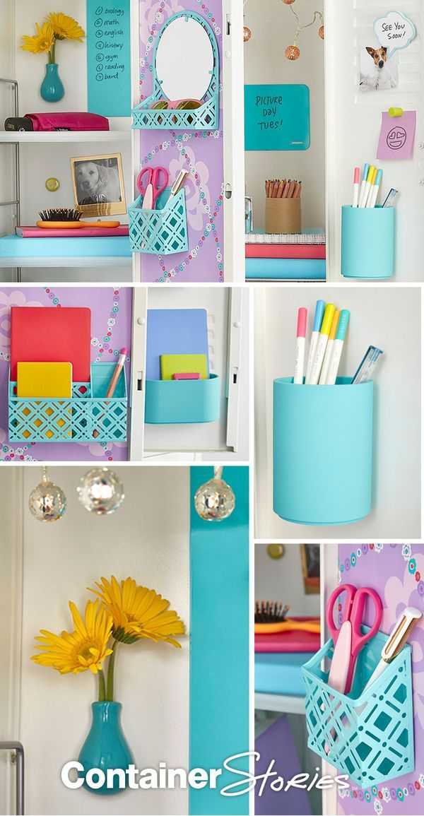 Create a first day fabulous locker with these locker organization favorites. From locker shelves, to magnetic organizers to mini mirrors. We've got your covered for a fresh new year.