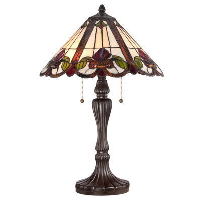 "Quoizel Fields Tiffany 24"" H Table Lamp with Emprire Shade"