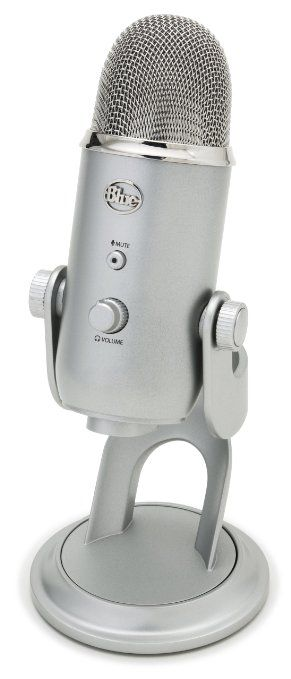 Amazon.com: Blue Microphones Yeti USB Microphone - Blackout Edition: Musical Instruments