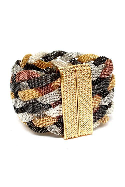 Braided Mixed Mesh Bracelet