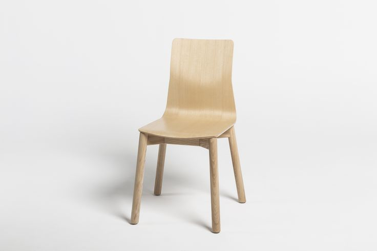 LINAR PLUS #chairs, designed by #PiotrKuchciński with a smooth line connected seat, made of #wood with #wooden legs. 2016 #novelty