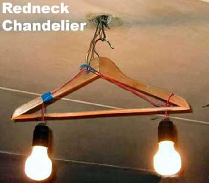 Redneck Chandelier, another one for the lake? hahaha