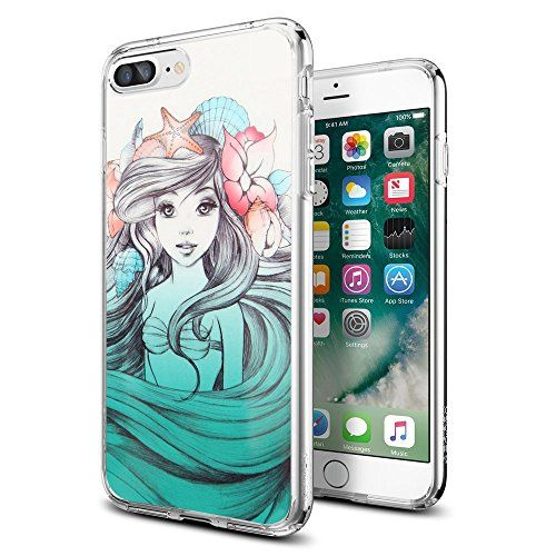 "The Little Mermaid iPhone 7 Plus Case, Onelee [Never fade] Disney The Little Mermaid Clear TPU Soft Rubber Case for iPhone 7 Plus 5.5"" [Scratch proof] [Drop Protection] >>> You can get additional details at the image link."