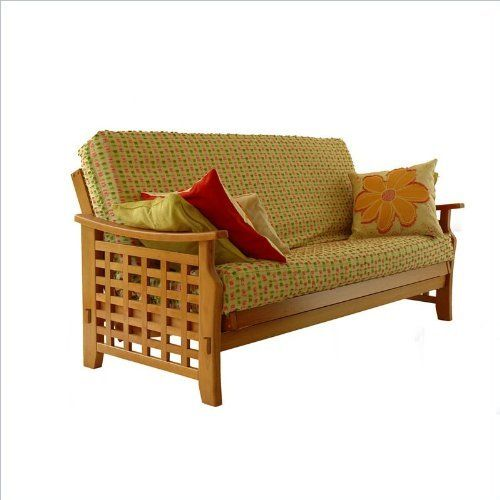 Lifestyle Solutions Manila Futon Frame - Queen in Java by LifeStyle Solutions. $559.00. The Manila convertible sofa bed has the sleek lines and smooth design that will surely add style to any room. The distinctive lattice design of the Manila arms make this a sure charmer! Features Bi-fold futon sofa  Constructed out of tropical eco-friendly hardwoods and select laminate construction Available in full or queen sizes Multiple finishes available for frame Specificati...