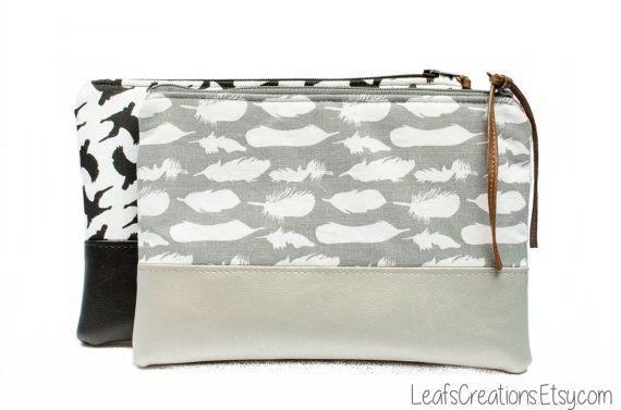 Makeup bag Makeup case Cosmetic case Cosmetic bag Pencil case Zipper pouch door LeafsCreations