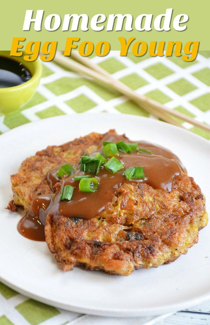 Homemade Egg Foo Young Recipe – Just like your favorite Chinese takeout dish. Made with shrimp, but you can substitute your favorite protein & veggies.