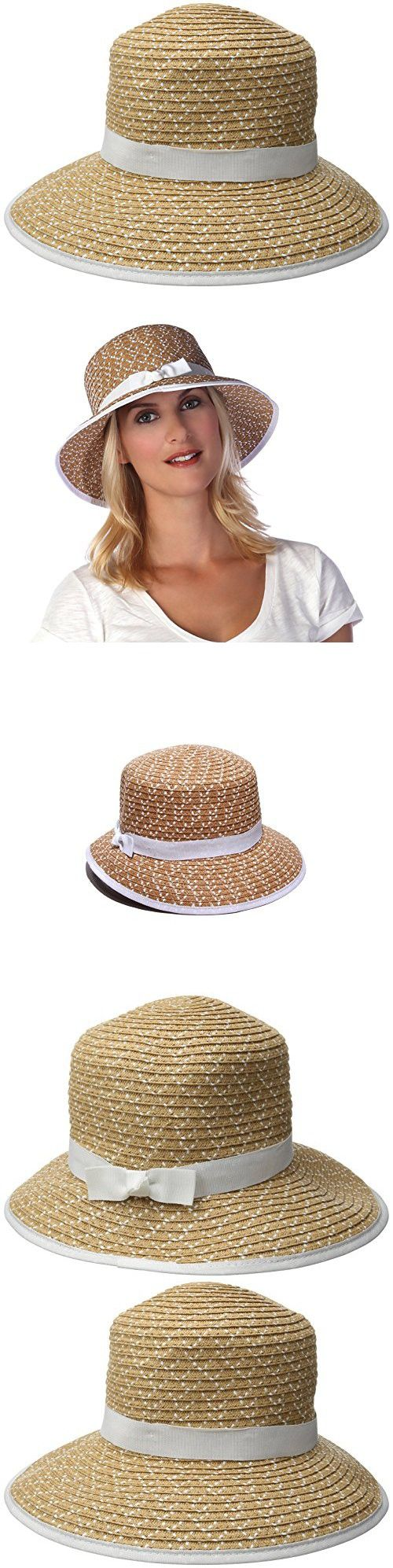 Physician Endorsed Women's Pitch Perfect Straw Sun Hat Rated UPF 50+, Natural/White, One Size