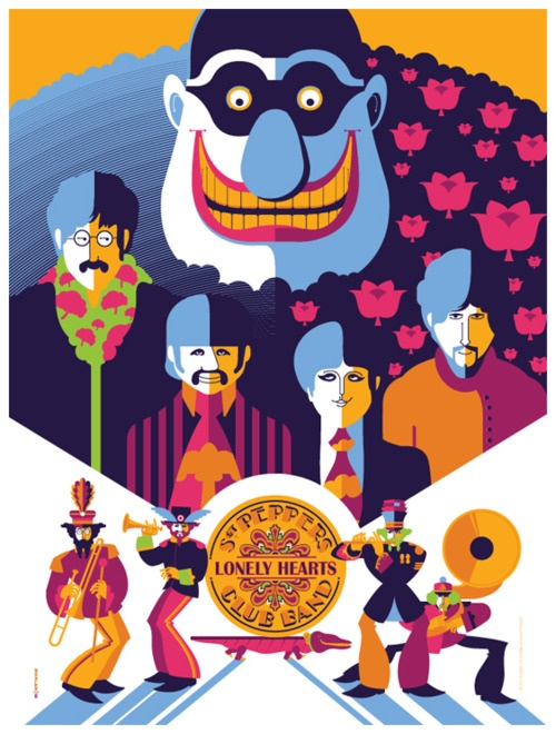 yellow submarineThe Beatles, Lonely Heart, Yellow Submarines, Peppers, Tom Whalen, Thebeatles, Paul Mccartney, Art Prints, Music Posters