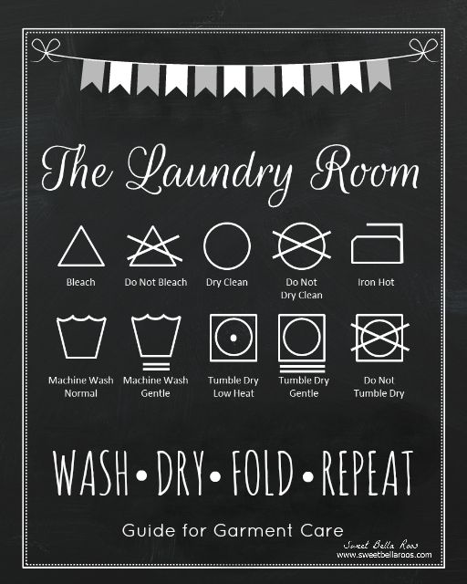 Free Laundry Room Printable - laundry room symbols #free #printable - Sweet Bella Roos